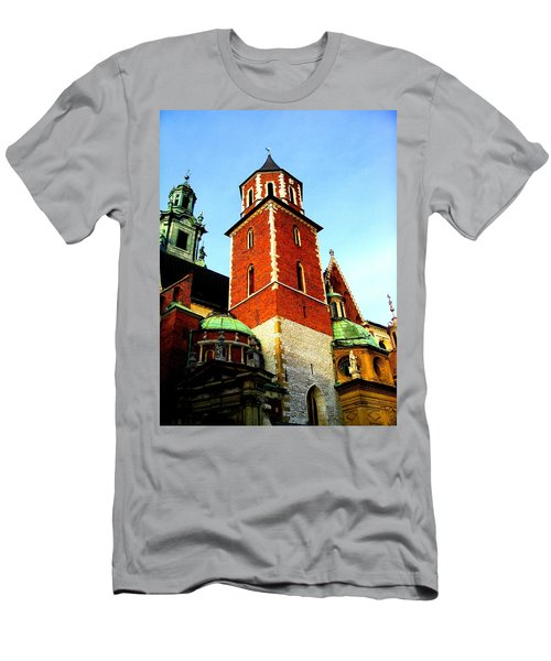 Men's T-Shirt (Athletic Fit) featuring the photograph Krakow Poland by Michelle Dallocchio