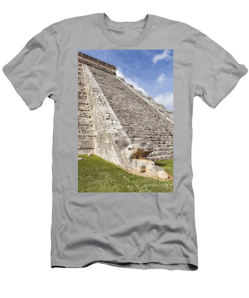 Kukulkan Pyramid At Chichen Itza Men's T-Shirt (Athletic Fit)