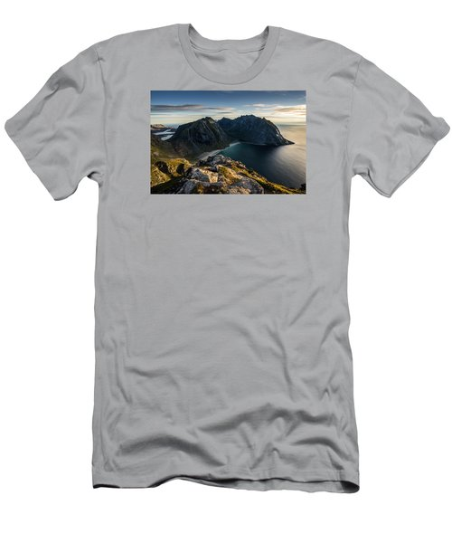 Men's T-Shirt (Athletic Fit) featuring the photograph Kvalvika Beach by James Billings