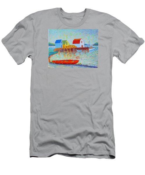Kyak At Blue Rocks Men's T-Shirt (Slim Fit) by Rae  Smith