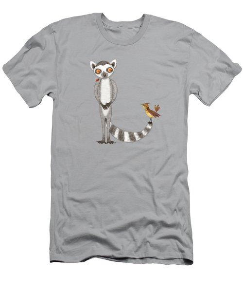 L Is For Lemur And Lark Men's T-Shirt (Athletic Fit)