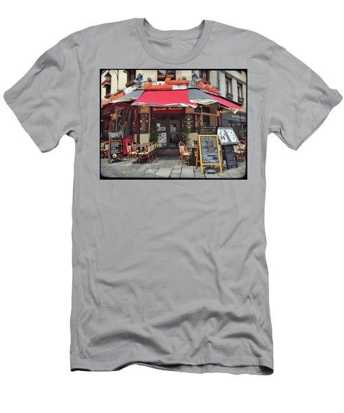 Men's T-Shirt (Athletic Fit) featuring the photograph La Fontaine De La Mouffe, Paris by Frank DiMarco