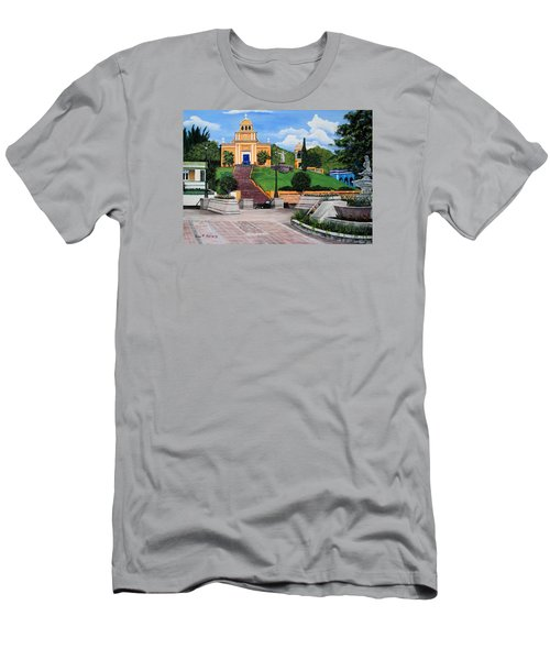 La Plaza De Moca Men's T-Shirt (Slim Fit) by Luis F Rodriguez