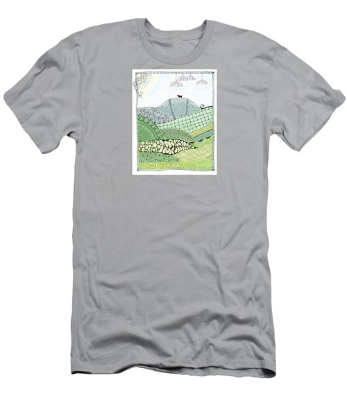 Labrador Mountain Doggie Doodle Men's T-Shirt (Athletic Fit)