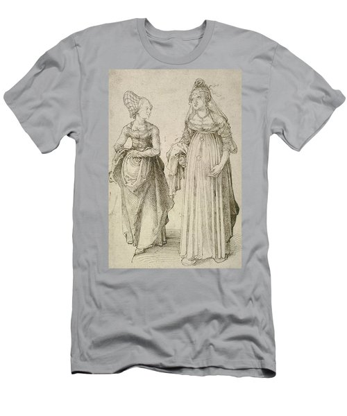 Lady In Venetian Dress Contrasted With A Nuremberg Hausfrau Men's T-Shirt (Athletic Fit)