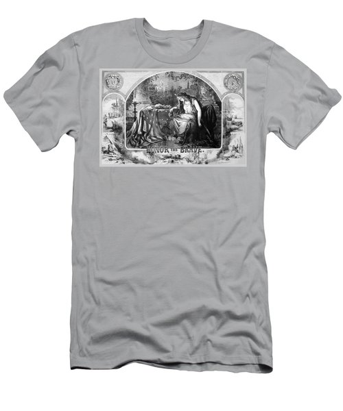 Lady Liberty Mourns During The Civil War Men's T-Shirt (Athletic Fit)