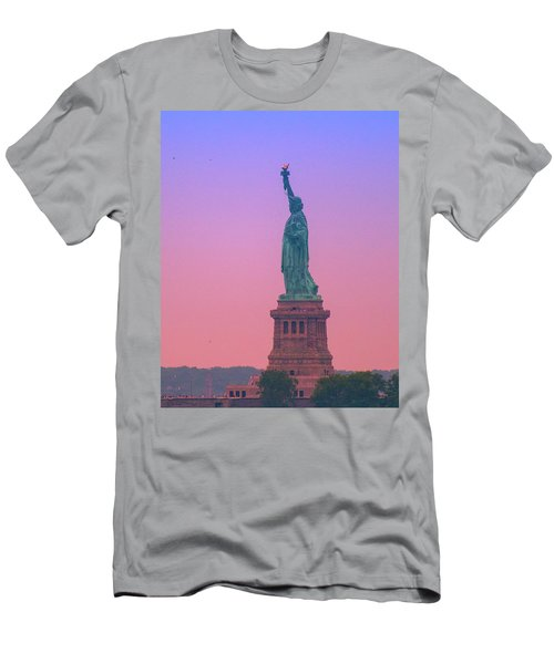 Lady Liberty, Standing Tall Men's T-Shirt (Athletic Fit)