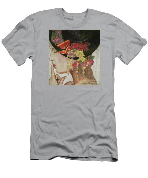 Lady With Hat Men's T-Shirt (Slim Fit) by Jacqueline Athmann