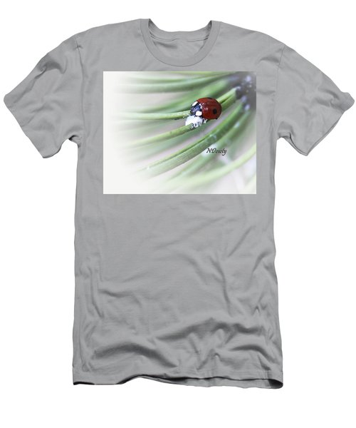 Ladybug On Pine Men's T-Shirt (Athletic Fit)