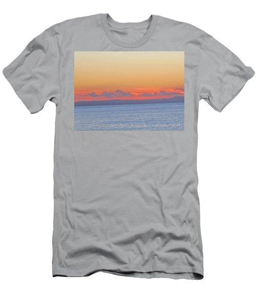 Laguna Orange Sky Men's T-Shirt (Slim Fit) by Dan Twyman