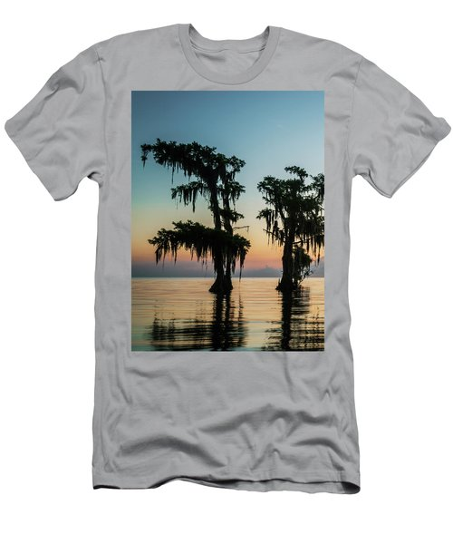 Lake Maurepas Sunrise Triptych No 3 Men's T-Shirt (Slim Fit) by Andy Crawford