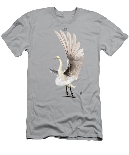 Men's T-Shirt (Athletic Fit) featuring the digital art Lake by Rob Snow