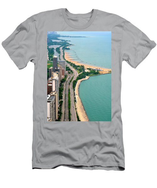 Lake Shore Dr . Chicago Men's T-Shirt (Athletic Fit)
