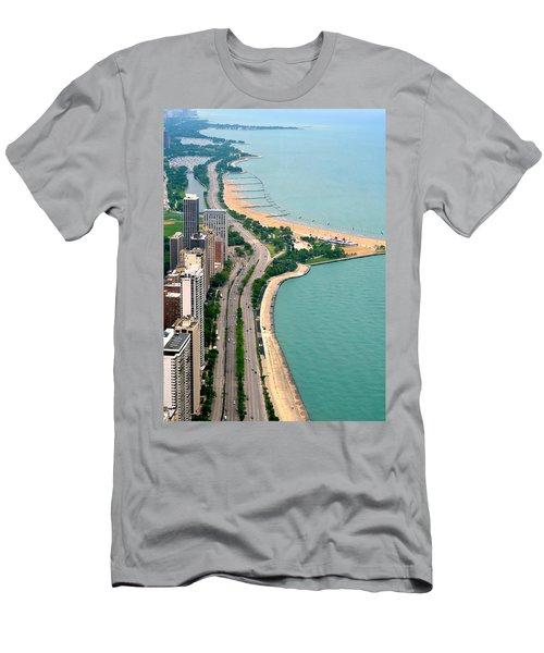 Lake Shore Dr . Chicago Men's T-Shirt (Athletic Fit)