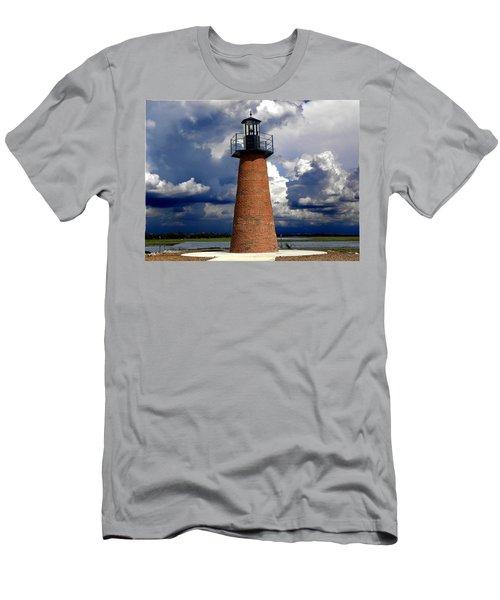 Lake Toho Lighthouse 002  Men's T-Shirt (Slim Fit) by Chris Mercer