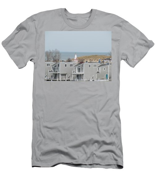 Lakeside Lighthouse  Men's T-Shirt (Athletic Fit)