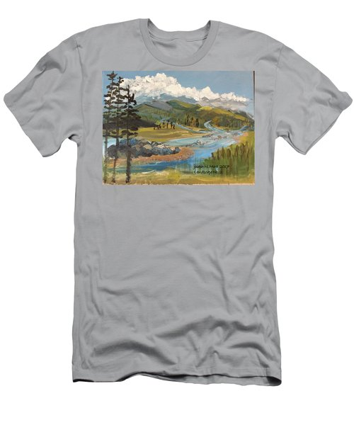 Landscape No._2 Men's T-Shirt (Athletic Fit)