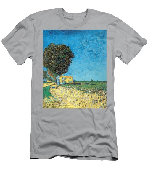 Men's T-Shirt (Athletic Fit) featuring the painting Lane Near Arles by Van Gogh