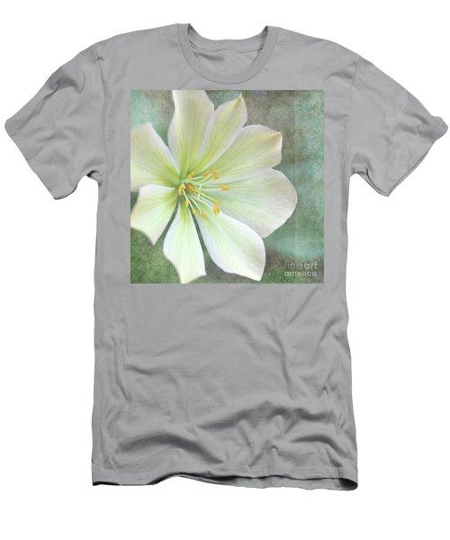 Large Flower Men's T-Shirt (Athletic Fit)