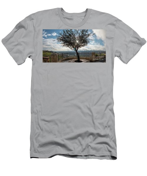 Large Tree Overlooking The City Of Jerusalem Men's T-Shirt (Athletic Fit)