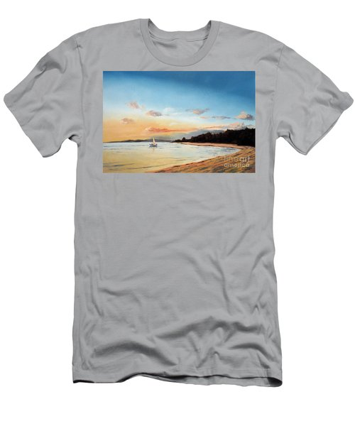 Late Sunset Along The Beach Men's T-Shirt (Athletic Fit)