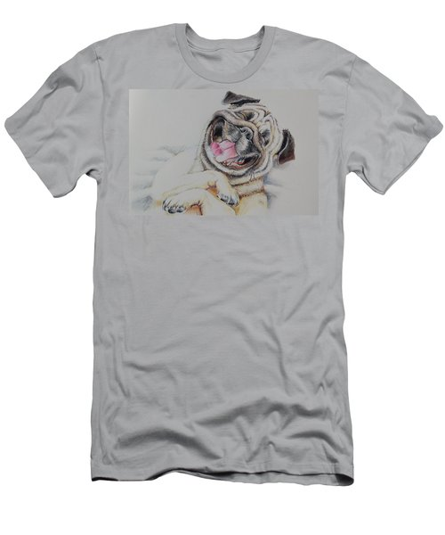 Laughing Pug Men's T-Shirt (Athletic Fit)