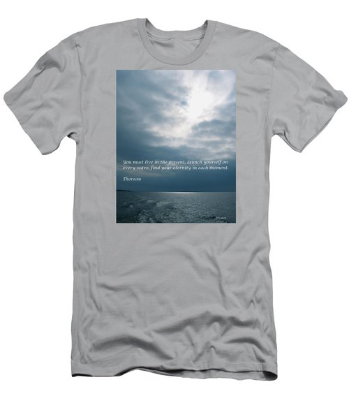 Launch Yourself On Every Wave Men's T-Shirt (Slim Fit) by Deborah Dendler