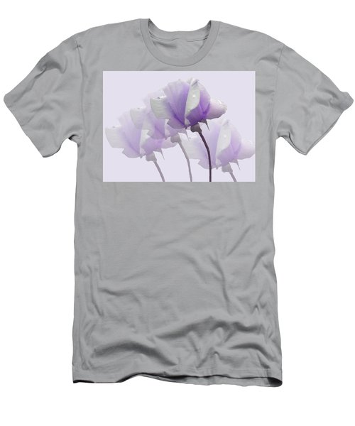 Lavender Roses  Men's T-Shirt (Slim Fit) by Rosalie Scanlon