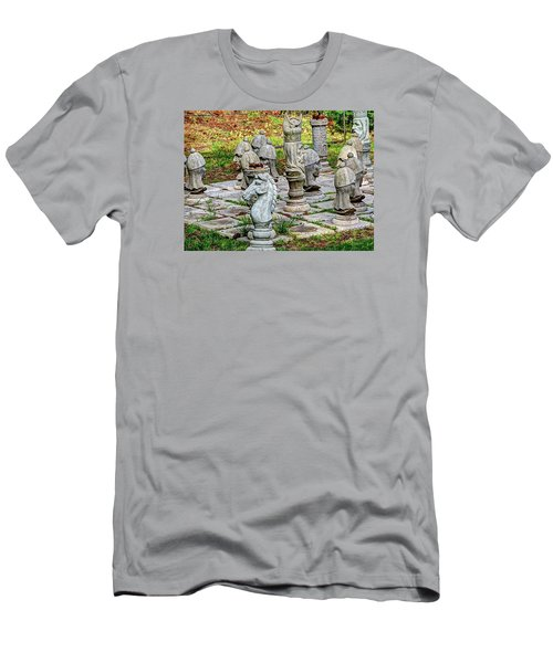 Men's T-Shirt (Slim Fit) featuring the photograph Lawn Chess by Chris Anderson