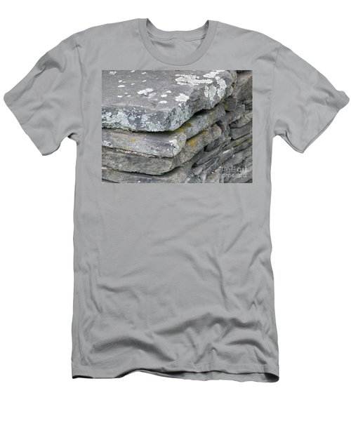 Layered Rock Wall Men's T-Shirt (Athletic Fit)