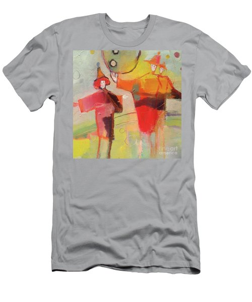 Men's T-Shirt (Athletic Fit) featuring the painting Le Cirque by Michelle Abrams