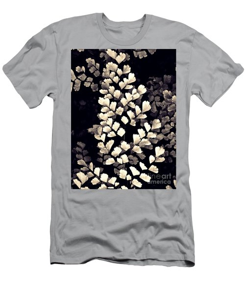 Leaf Abstract 15 Sepia Men's T-Shirt (Slim Fit) by Sarah Loft