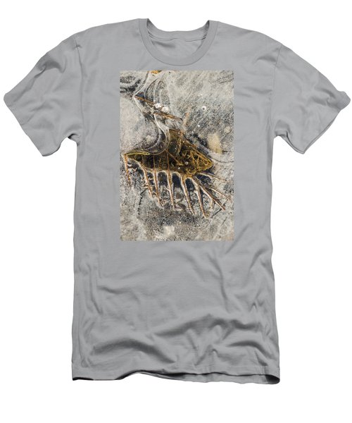 Leaf Veins In Ice Men's T-Shirt (Athletic Fit)