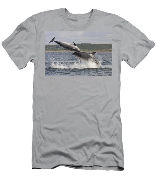 Leaping Bottlenose Dolphins - Scotland  #38 Men's T-Shirt (Athletic Fit)