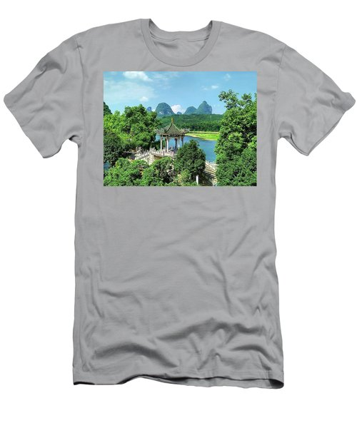 A View In Yangshuo Men's T-Shirt (Athletic Fit)