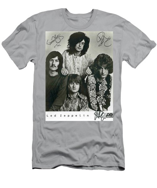 Led Zeppelin Band Autographs Men's T-Shirt (Athletic Fit)