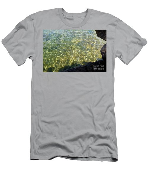 Ledge View Ripples Men's T-Shirt (Slim Fit) by Sandra Updyke