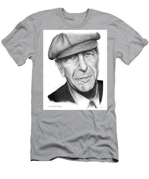 Leonard Cohen Men's T-Shirt (Slim Fit) by Greg Joens
