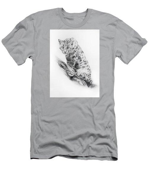 Leopard Cat Men's T-Shirt (Athletic Fit)