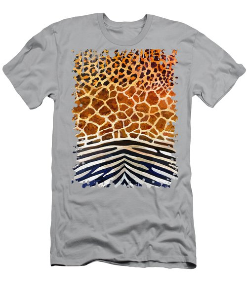 Leopard Giraffe Zebra Men's T-Shirt (Athletic Fit)
