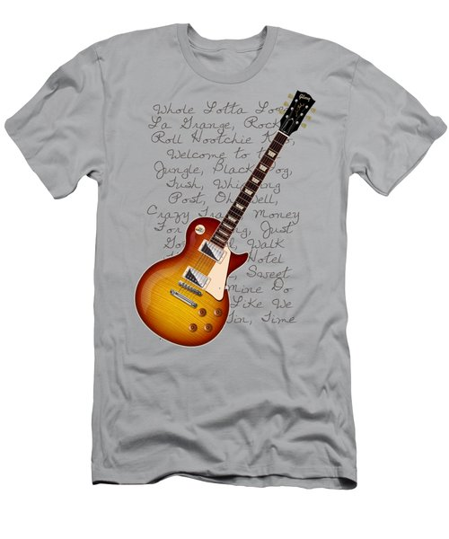 Les Paul Songs T-shirt Men's T-Shirt (Slim Fit) by WB Johnston