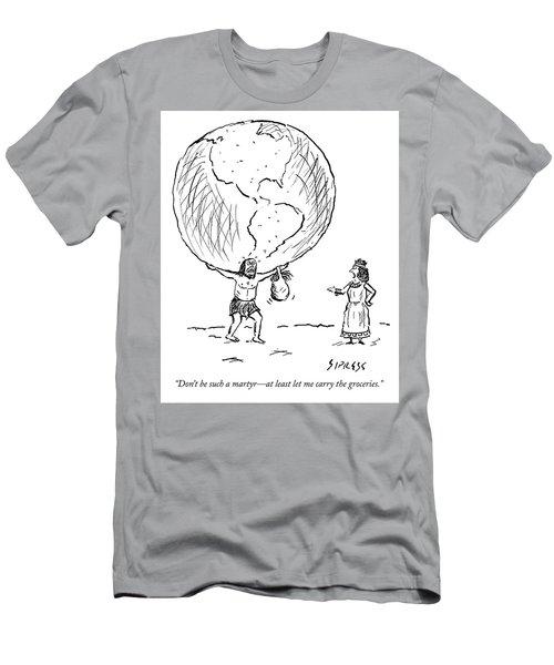Let Me Carry The Groceries Men's T-Shirt (Athletic Fit)