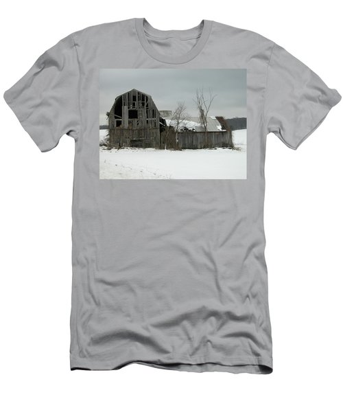 Letchworth Barn 0077b Men's T-Shirt (Slim Fit) by Guy Whiteley