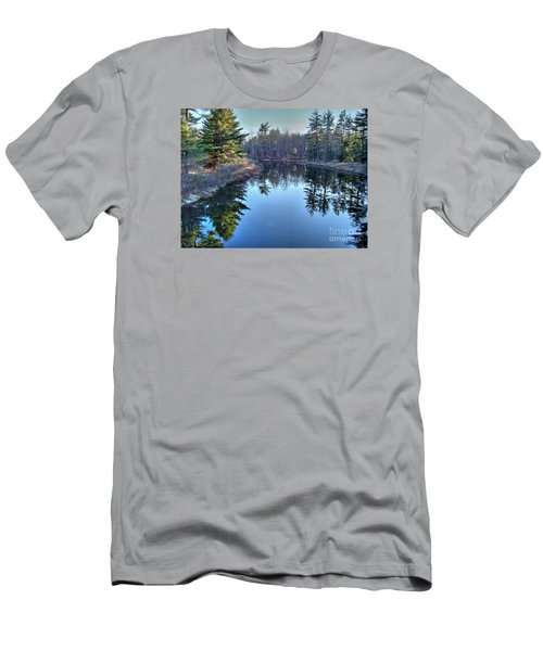 Men's T-Shirt (Slim Fit) featuring the photograph L'heure Bleu by Betsy Zimmerli