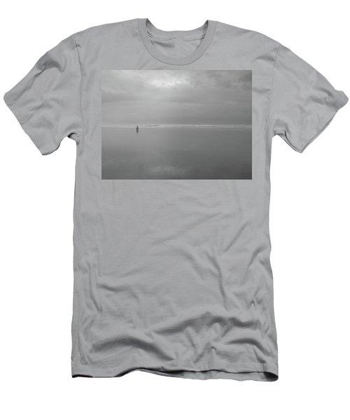 Life Is A Beach Men's T-Shirt (Slim Fit) by Suzy Piatt