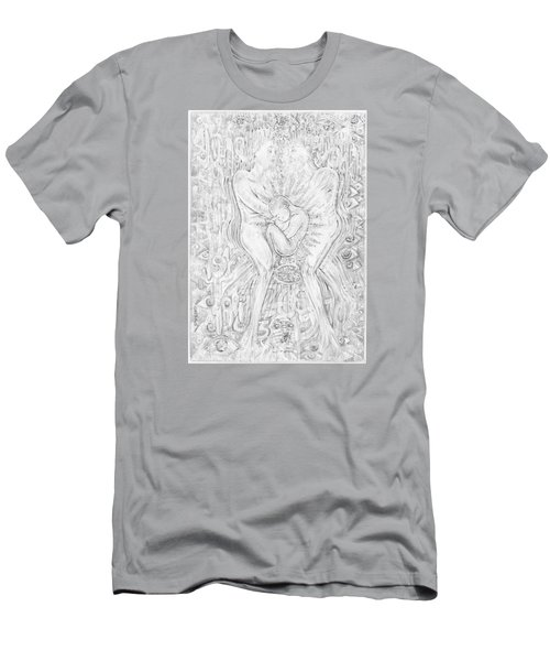 Men's T-Shirt (Slim Fit) featuring the mixed media Life Series 5 by Giovanni Caputo