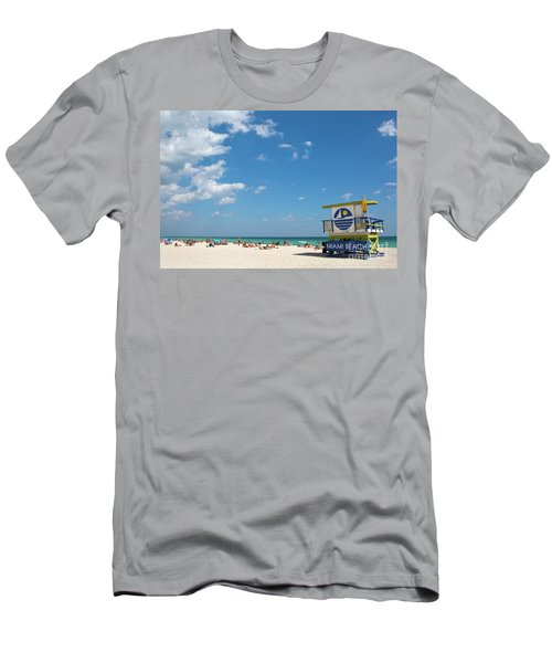 Lifeguard Station Miami Beach Florida Men's T-Shirt (Athletic Fit)