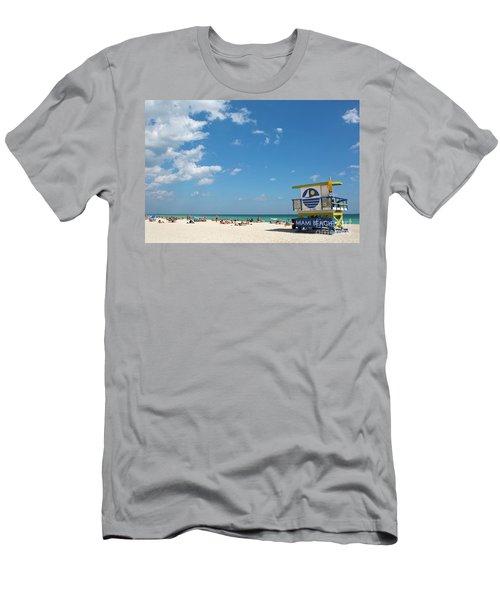 Lifeguard Station Miami Beach Florida Men's T-Shirt (Athletic Fit)