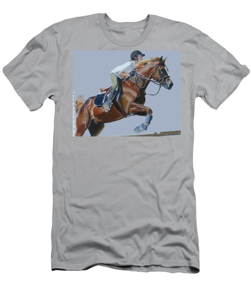 Horse Jumper Men's T-Shirt (Slim Fit) by Patricia Barmatz