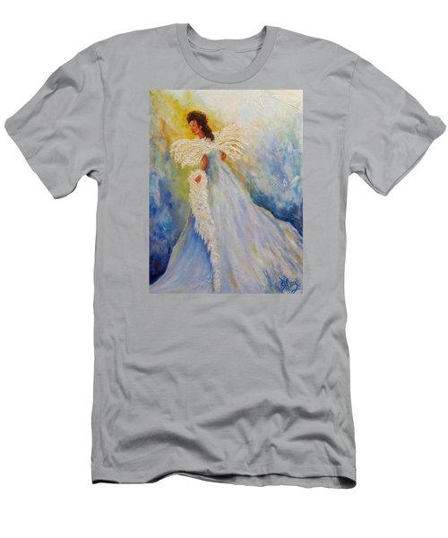 Light Of Grace,angel Men's T-Shirt (Athletic Fit)